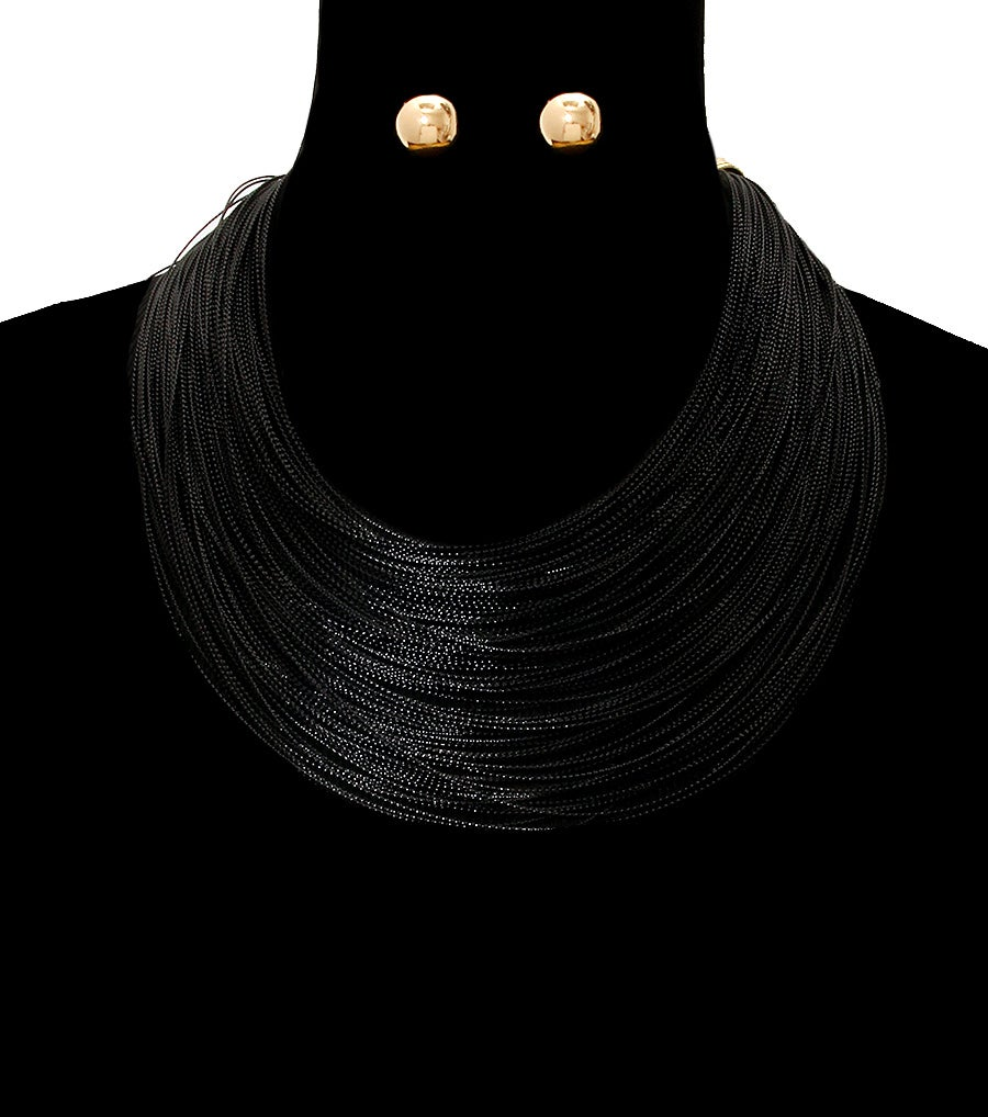 Image of Layered Thread Necklace