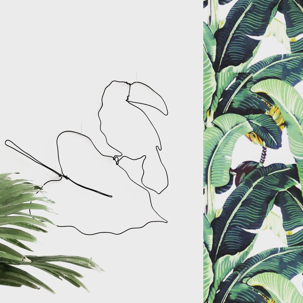Image of Toucan et sa feuille exotique (modèle 2)