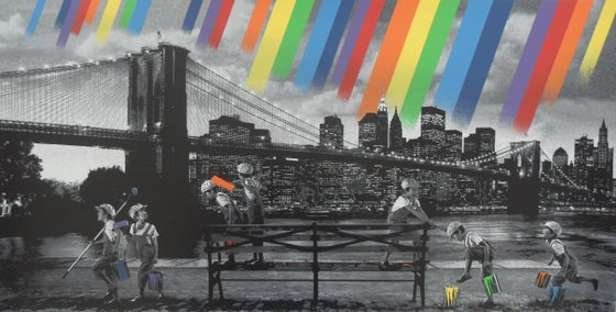 "Image of ROAMCOUCH ""BROOKLYN BRIDGE"" - 20 COLOUR SCREENPRINT - LTD ED 75 - 90CM X 50CM"
