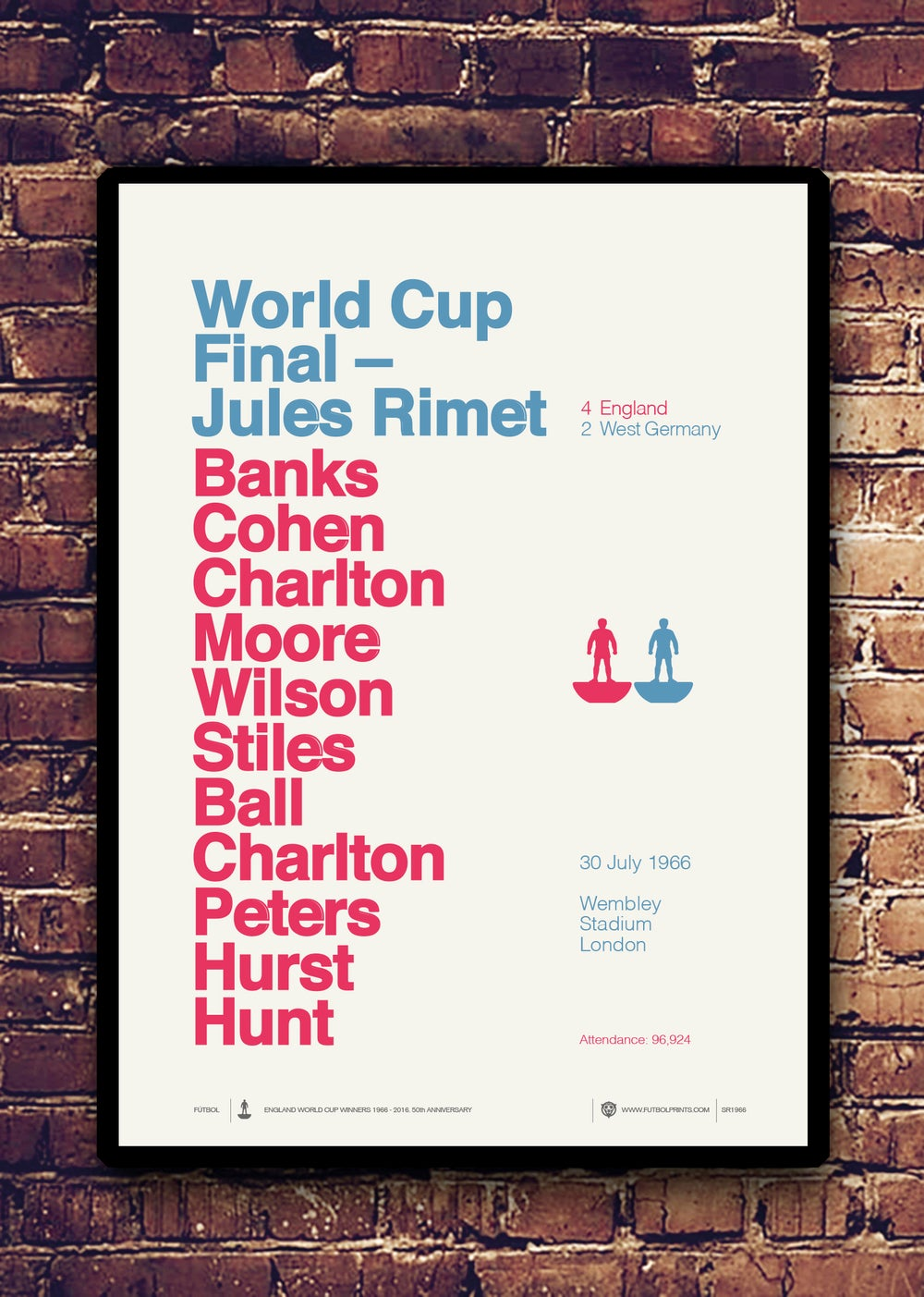 Image of ENGLAND - JULES RIMET - 50TH ANNIVERSARY