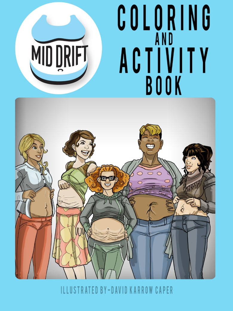 Image of Mid Drift Coloring and Activity Book