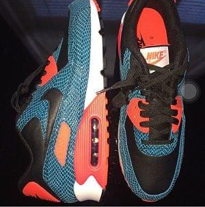 7c3bc272a530 Image of Nike Air Max 90 Anniversary  Blue Snake   725235 300