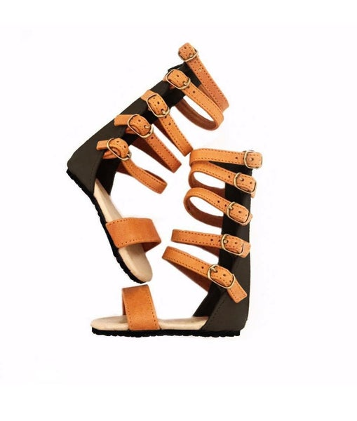 Image of Nahla sandal TAN and BLACK