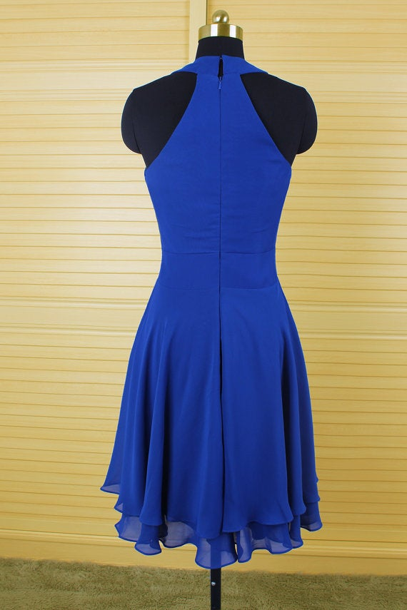 195b1b83271 ... Image of Beautiful Royal Blue Short Halter Homecoming Dresses