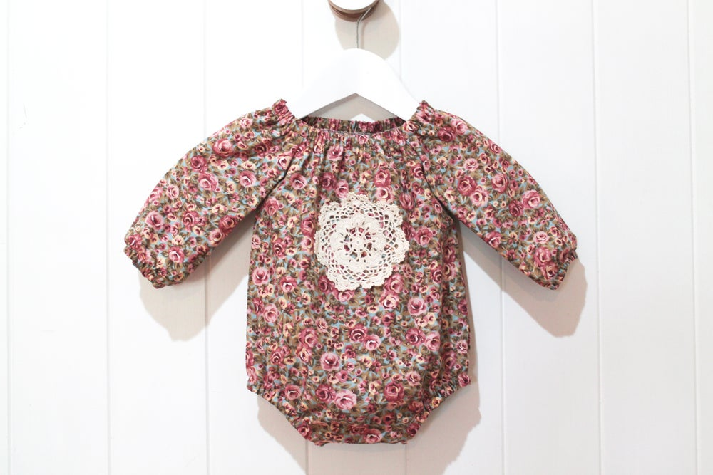 Image of Tapestry Rose - Long Sleeved Playsuit Romper
