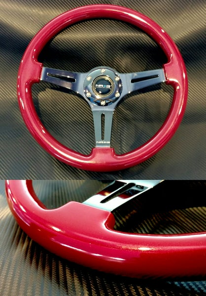 Image of NRG Red steering wheel