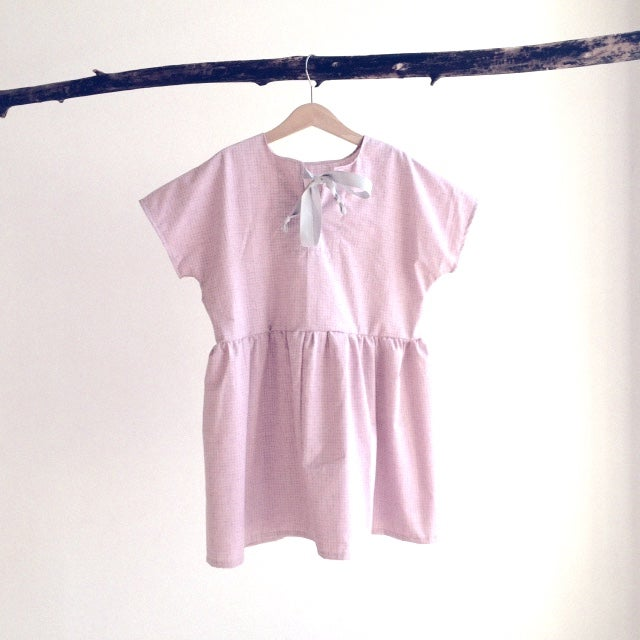 Square Dress-rose check