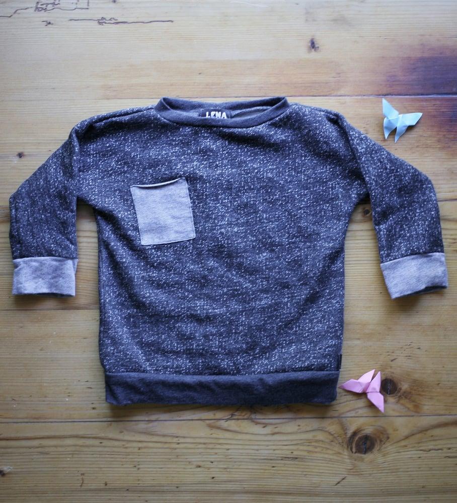 Image of Pulli mit Tasche - grau meliert