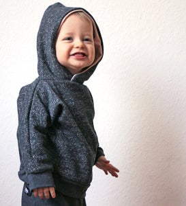 Image of Kinder-Hoodie grau Sprenkel
