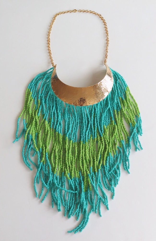 Image of Boho Turquoise and Green Necklace