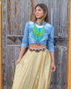 Boho Turquoise and Green Necklace