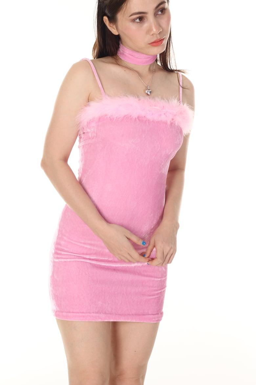 Image of Made To Order - BabyKate Dress in Pink Velvet