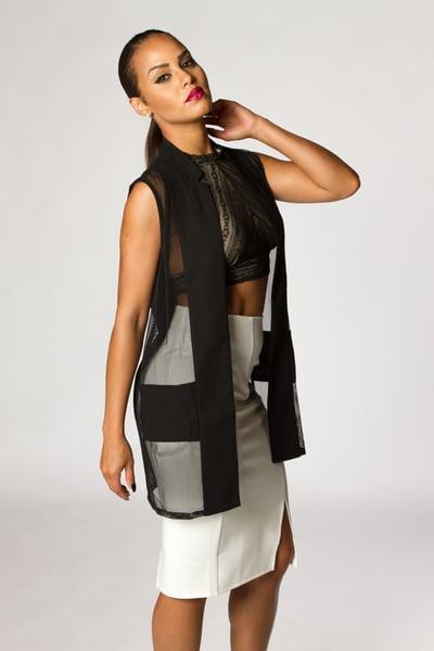 Image of Black Netted Vest