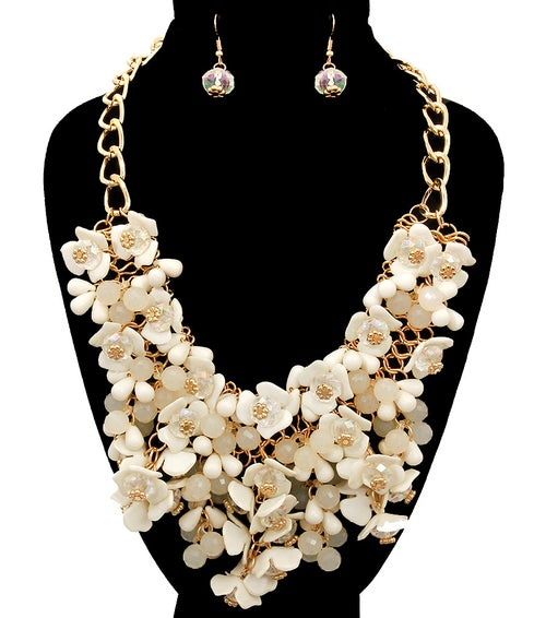 Image of Multi Flower Necklace Set