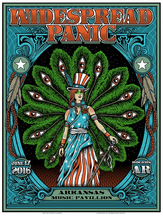 "Image of WIDESPREAD PANIC @ Rogers, AR - 2016 Orignals & ""Foil variants"""