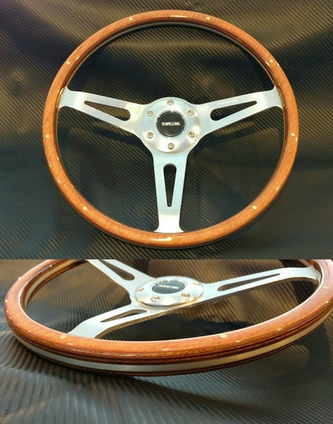 Image of NRG Classic Wood Grain 365mm steering wheel