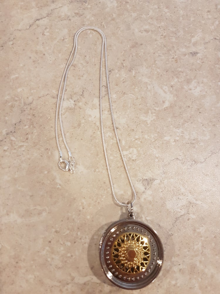Image of Gold BBS Wheel Necklace