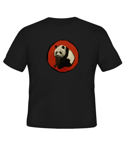Image of Angry Panda T-Shirt - Black