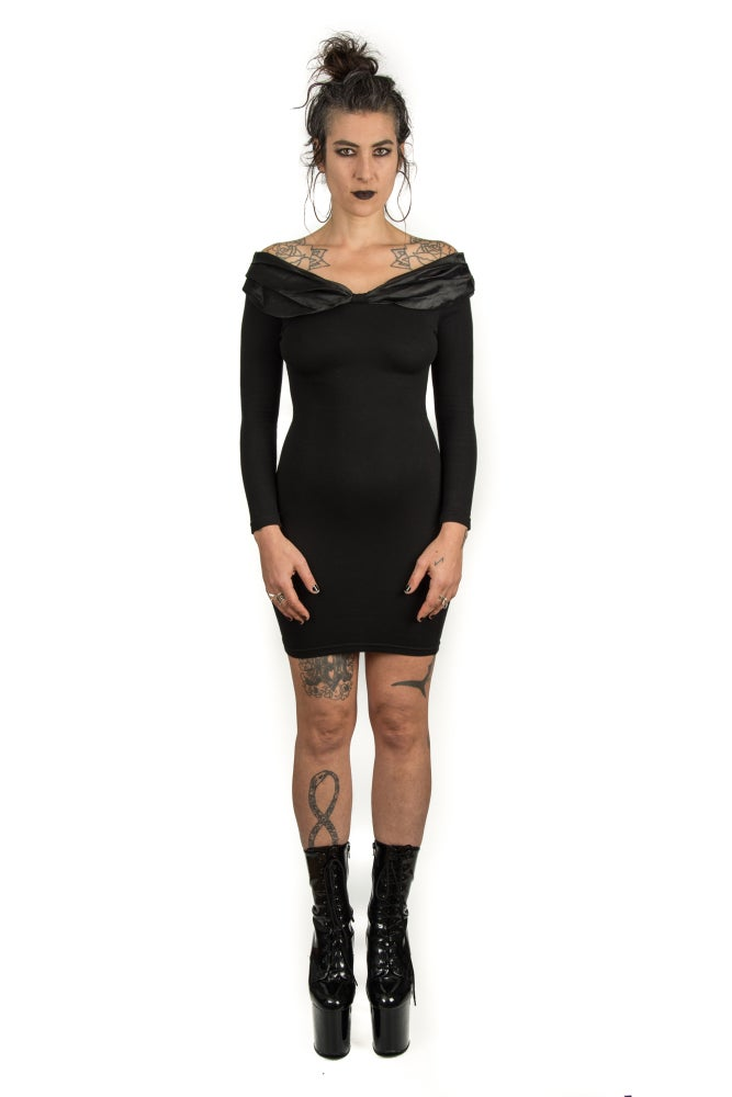 Image of Off the Shoulder Party Dress