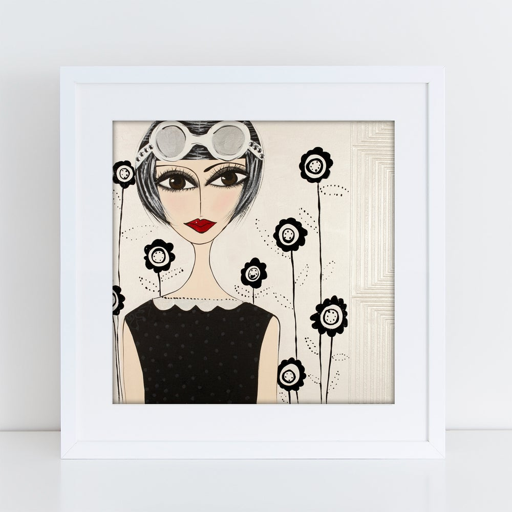 Image of Groovy Modern Girl PRINT