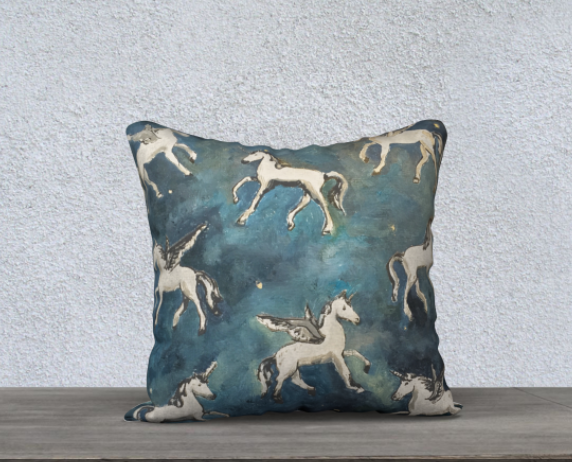 Image of Magial Ponies at Night Pillow Case