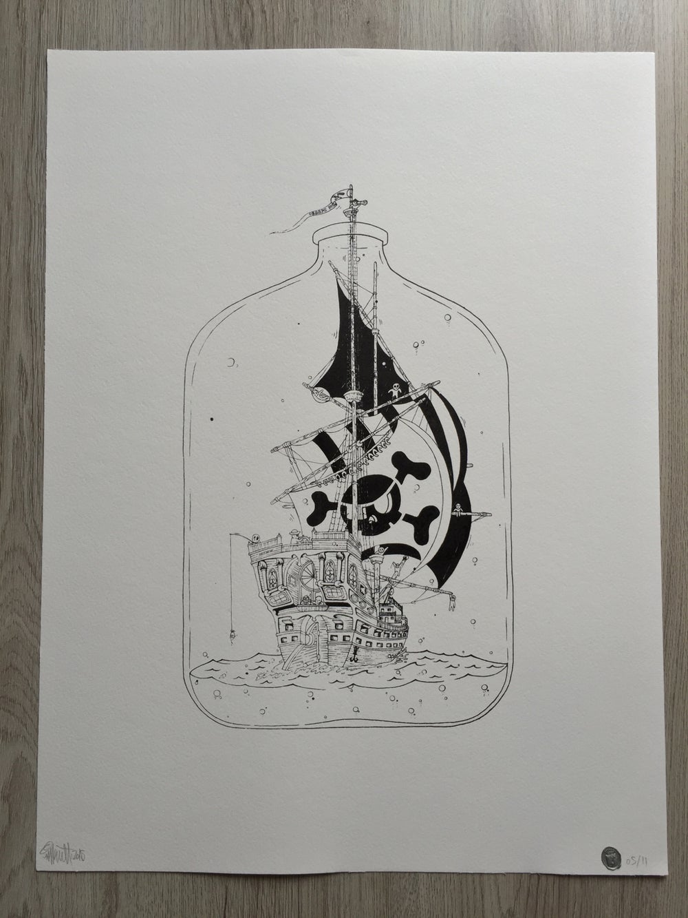 Image of Bottled ship, Beyond the limits