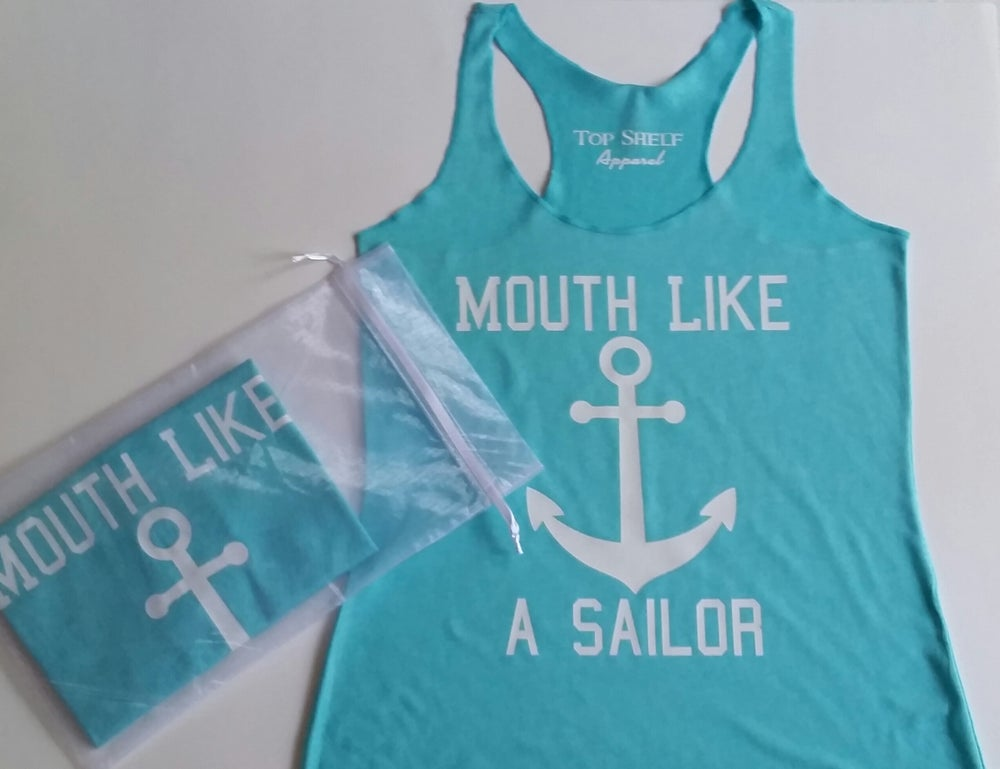Image of MOUTH LIKE A SAILOR racerback