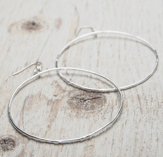 Image of big hoop earrings