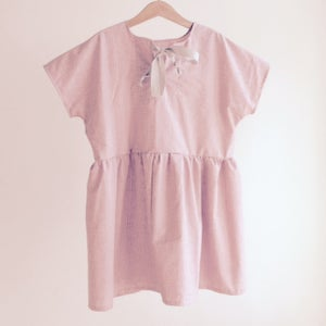 Image of Square Dress-rose check