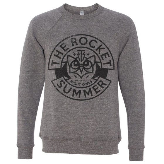 Image of Night Owls Grey Triblend Sweatshirt + FREE US and CANADA SHIPPING