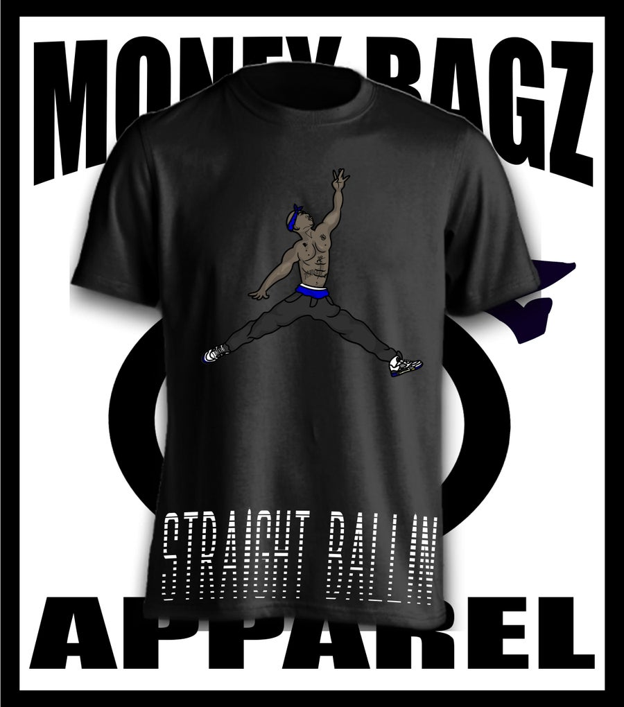 Image of Straight Ballin tee (blue)