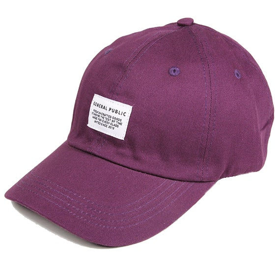 Image of Cotton Chino Baseball Cap (Purple)