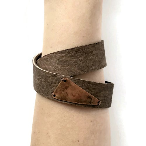 Image of Double-Wrap Bracelet with Triangle