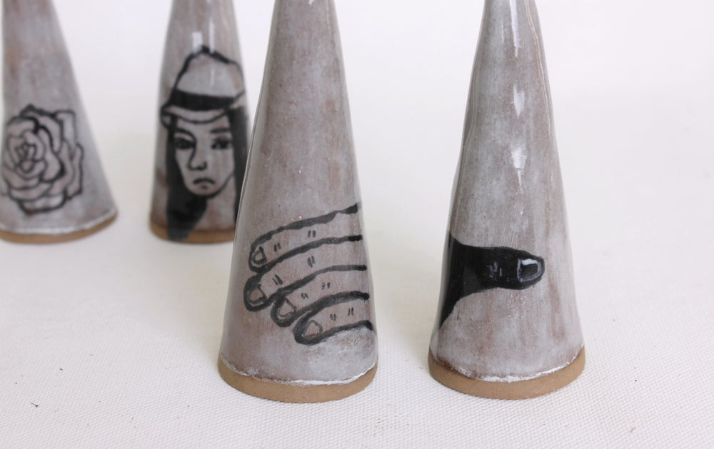Image of Ceramic ring cone. earthenware.