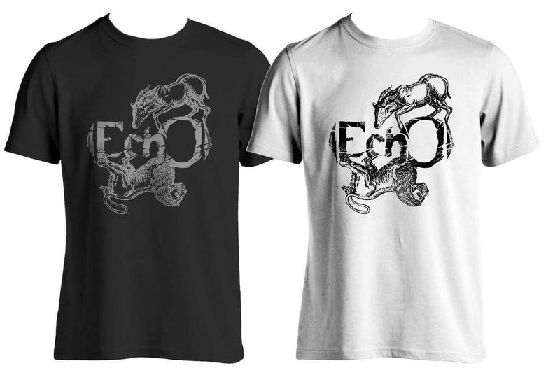 Image of (EchO) Logo T-Shirt Black / White
