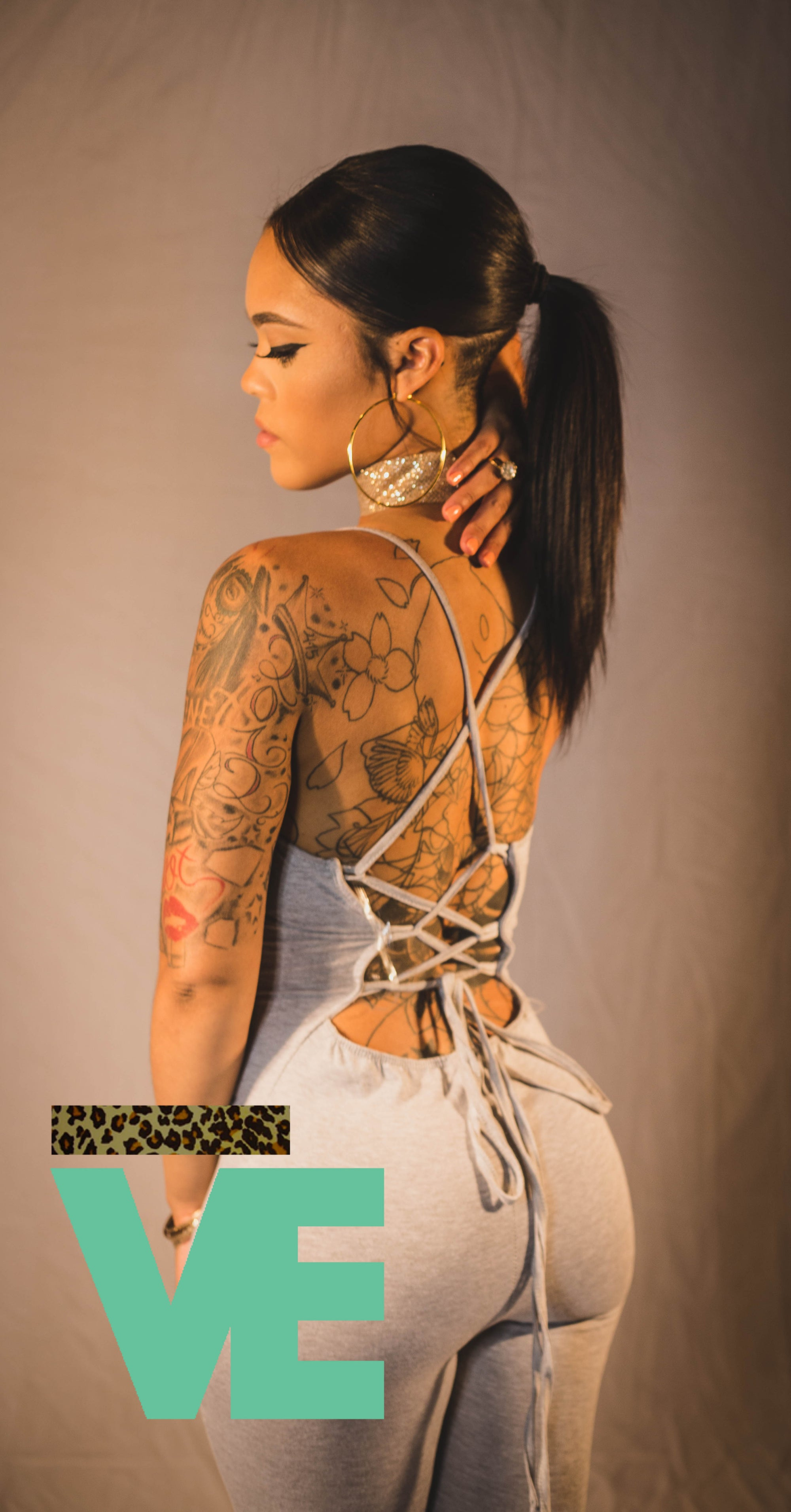 Image of LaceUp Back One Piece Bodysuit
