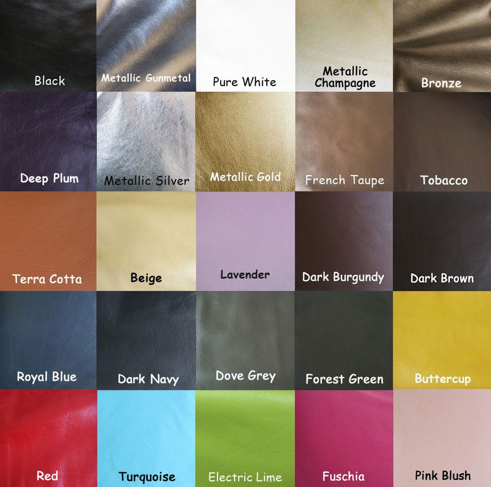 """Image of 40"""" (inch) Leather Shoulder Strap - .5"""" Wide - GOLD or NICKEL #16 Hooks - Choose Color & Finish"""