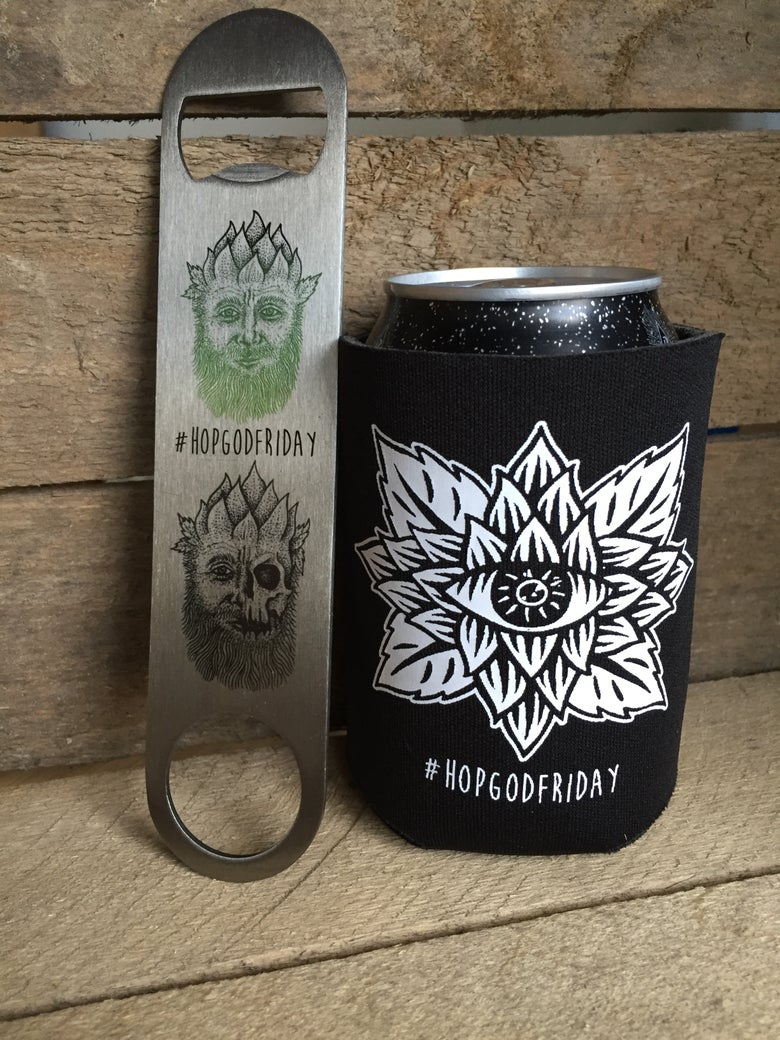 Image of Beer Koozie & Bar Blade Set
