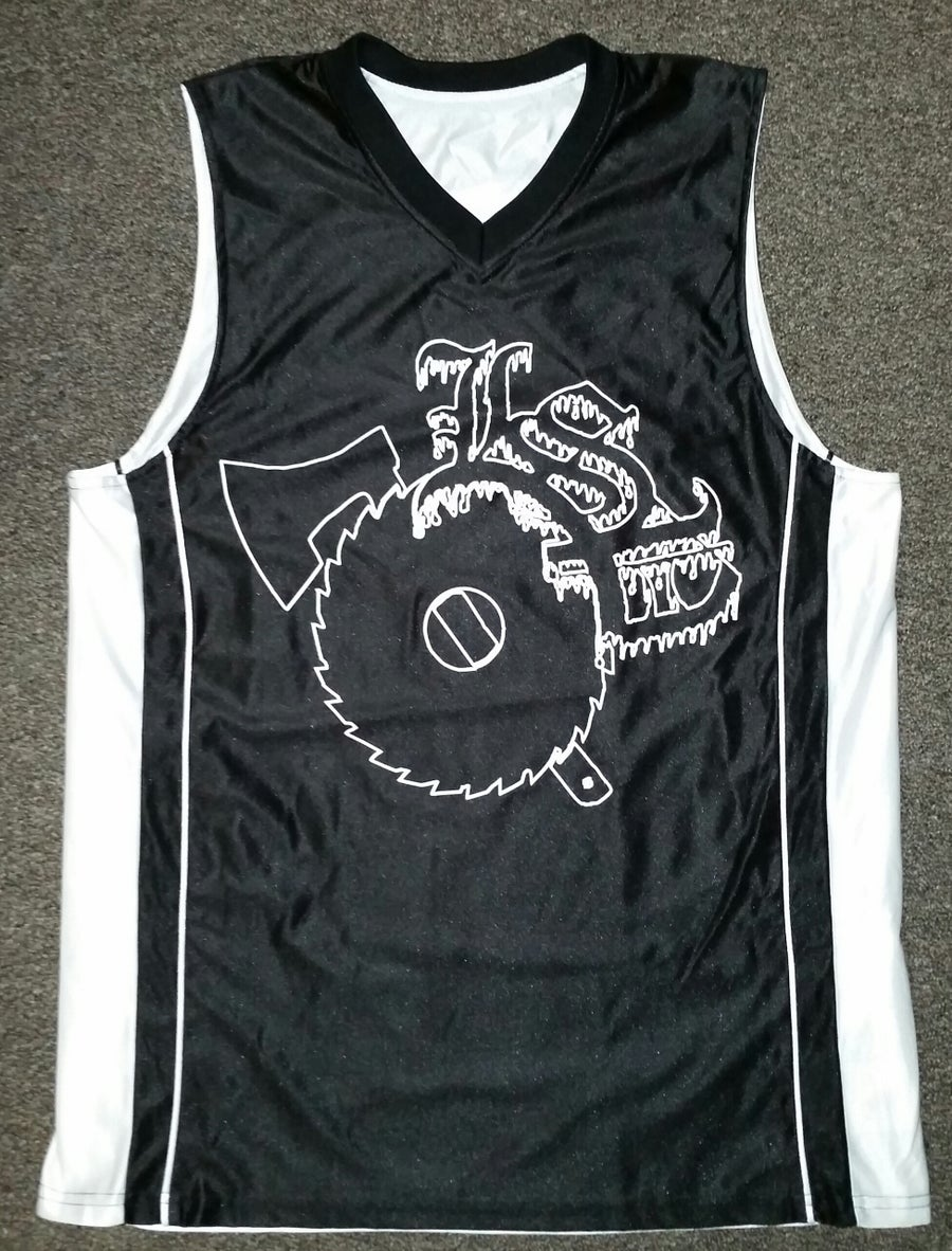 Image of BASKETBALL JERSEY BLACK & WHITE