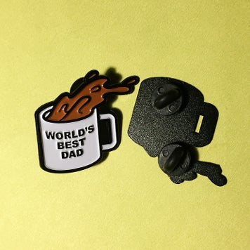 "Image of ""WORLD'S BEST DAD"" PIN"