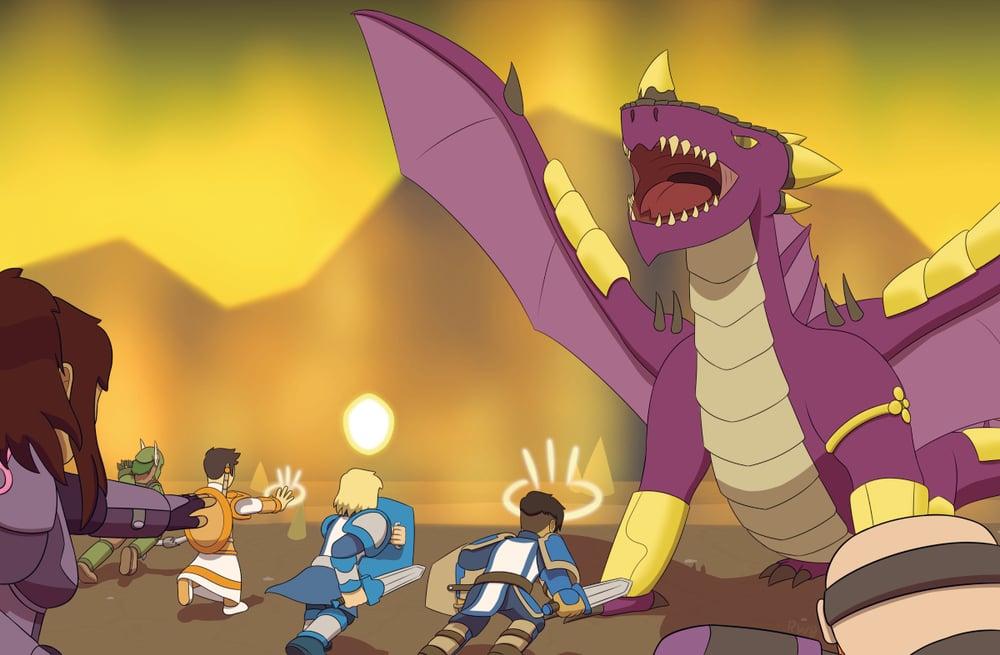 Image of The Dragon King Poster (Comic #400)