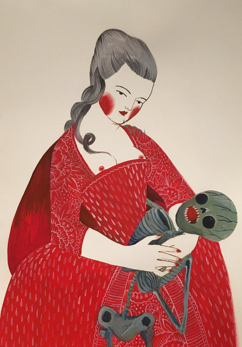 Image of Red Giclèe 18x24