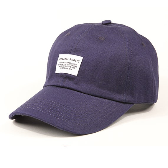 Image of Cotton Chino Baseball Cap (Navy)