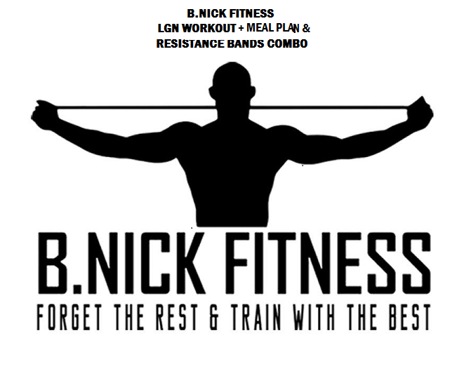 Image of B.NICK FITNESS LOOK GOOD NAKED WORKOUT + MEAL PLAN AND BAND COMBO