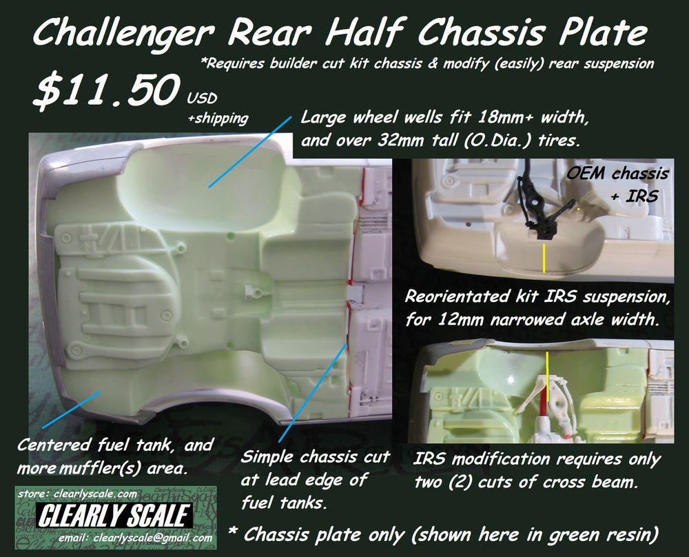 Image of Challenger Rear 1/2 Chassis Plate