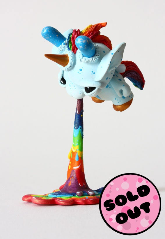 "Image of Splashes - Puking Fairycorn 3"" Custom Dunny"