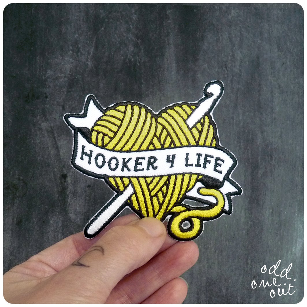 Image of Hooker 4 Life - Iron on Gang Patch