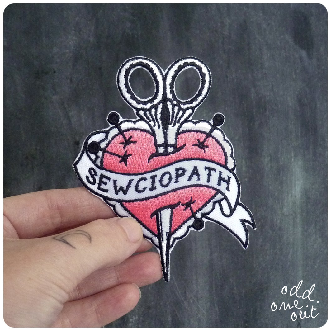 Image of Sewciopath - Iron on Gang Patch