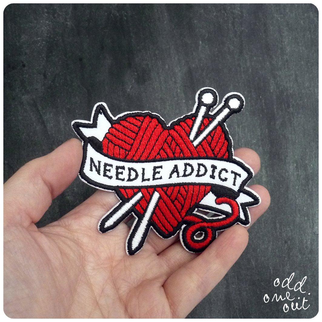 Image of Needle Addict - Iron on Gang Patch