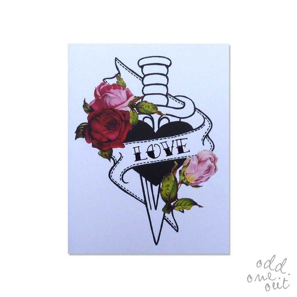 Image of Love Dagger - Customizable card!